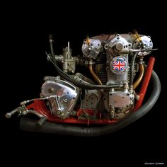 engine photography by gordon calder - Classic Bikes and Café Racer - Motorrad Antique Motorcycles, American Motorcycles, Racing Motorcycles, Custom Motorcycles, Racing Bike, Auto Racing, Custom Bikes, Motos Vintage, Vintage Bikes