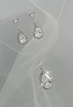 Crystal Bridal Set Bridesmaids Jewelry Set by CrystalAvenues, $60.00