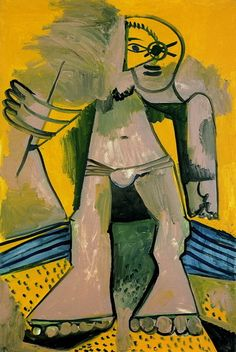 "Pablo Picasso - ""standing bather"", 1971Pablo Picasso - More Pins Like This At FOSTERGINGER @ Pinterest"