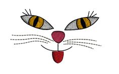 Vintage Cat doll face Machine Embroidery Design         October 01, 2015 at 03:09AM