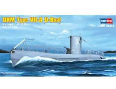 The Hobby Boss DKM Navy Type VII-A U-Boat in 1/350 scale from the plastic submarine model range accurately recreates the real life German submarine used during World War II. This plastic submarine kit requires paint and glue to complete.