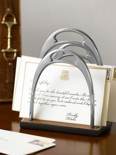 Ralph Lauren Kelvin Stirrup Letter Rack.  Its So Downton Abbey!