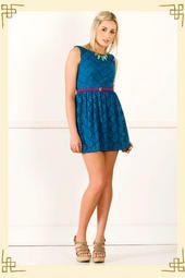 Flirty Lace Party Dress