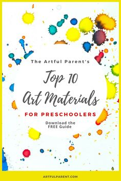 The Best Art Materials for Preschoolers Get Your FREE Guide to My Top 10 Art Materials for Preschoolers! Clickable links allow you to learn more or purchase the art materials quickly and easily. Click Here to Get Your Free Guide!