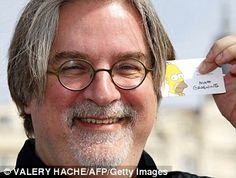 Simpsons creator Matt Groening, born 2/15/1954