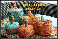 Ruffled fabric pumpkins