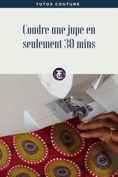 Knitting İdeas - Coudre une jupe en wax en seulement 30 minutes l Tutos Couture Coin Couture, Couture Sewing, Sewing Clothes Women, Diy Clothes, Sewing Machine Projects, Diy Wax, Knitting Blogs, Creation Couture, Sewing For Beginners