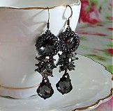 Queen Crochet Earrings, Queen, Drop Earrings, Jewelry, Jewlery, Jewerly, Schmuck, Drop Earring, Jewels