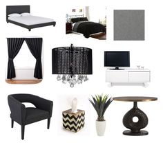 """Untitled #4"" by leaholoughlin ❤ liked on Polyvore featuring interior, interiors, interior design, home, home decor, interior decorating, Hearts Attic, CB2, ExceptionalSheets and Gallery"
