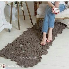New Absolutely Free Crochet rug rectangle Concepts New Crochet Rug Patterns Rectangle Ideas Crochet Doily Rug, Crochet Scarf Easy, Crochet Rug Patterns, Crochet Carpet, Freeform Crochet, Crochet Home, Crochet Shawl, Crochet Flowers, Crochet Stitches