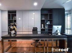 × - Home Decor Loft Office, Home Office Setup, Office Workspace, Office Decor, Office Ideas, Modern Office Design, Office Furniture Design, Office Interior Design, Office Interiors