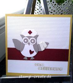 Stamp and Create: Stampin Up Eule zur Grippezeit und Bändershare Organdy-Geschenkband