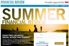 Free Financial Review Subscription until 31 January