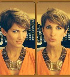 Neuer Look für neuen Job: die ehemalige GZSZ-Beauty Isabell Horn trägt jetzt einen Pixie-Cut