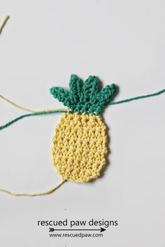 Crochet Pineapple - FREE PATTERN by Resccued Paw Designs