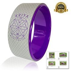 KRIYA Yoga Wheel - Empower your Practice in Comfort, Improve Back Flexibility, Balance, and Core Strength! purple with gray >>> You can get more details by clicking on the image.