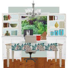 Leslie's dining room desk wall