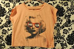 SOLD ! http://www.ebay.com/itm/252466691238?ssPageName=STRK:MESELX:IT&_trksid=p3984.m1555.l2649  #marilynmonroe #Vintage #Shirt #T #Hollywood #marilyn #croptop #peach #redcarpetnoir #Movie Star #clothes #Top #punk #young #sexy #loose #playboy #1980 #1985 #80's #blonde #woman #sale #auction #buy #retro #blonde #auction #bid #feminist #free  #USA #ending #soon #glasses #madonna #star #movie #talent #strong #businesswoman