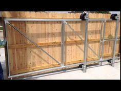 The second way to make uniqueness is use custom Gate Hardware. Sliding Wooden Gates, Sliding Fence Gate, Wooden Fence Gate, Fence Gate Design, Privacy Fence Designs, Metal Fences, Fencing, Stockade Fence, Gate Designs Modern