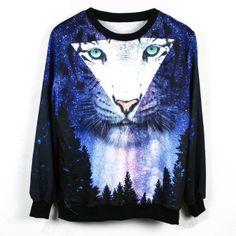 15 euro incl. shipping    Aliexpress.com : Buy 2013 New Women/Men print tiger 3D Hoodies Roses Pullovers sweaters clound golden man Galaxy sweatshirts top S/M/L/XL fr...
