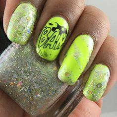 Paints And Polish: A Superhero Neon Manicure