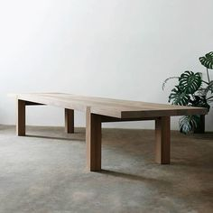 Carpenters Table in Iroko and French Oak Design: James Mudge Table Cafe, Dining Room Table, Table And Chairs, Timber Dining Table, House Furniture Design, Timber Furniture, Plank Table, Oak Coffee Table, French Oak