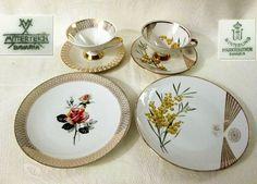 2x Sammeltasse Gedeck Porzellan weiß mit Blütendekor * Mitterteich & Winterling kaufen bei Hood.de