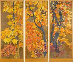Ernest Biéler (1863–1948) - Paravent à trois feuilles1946