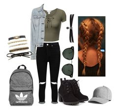 """""""Outfit when you are just city shopping"""" by pauliina-lehtikevari on Polyvore featuring Boohoo, rag & bone, Red Herring, Spitfire, adidas, Fallon and Charlotte Russe"""