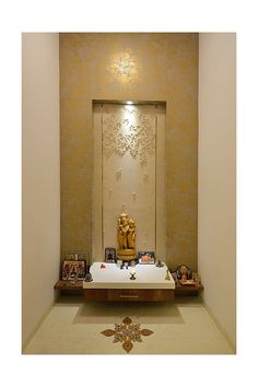 Pooja Room Door Design, Home Room Design, Temple Room, Temple Design For Home, Mandir Design, Meditation Room Decor, Room Partition Designs, Puja Room, Indian Home Decor