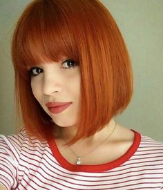 orange brown bob