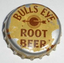BULLS EYE ROOT BEER SODA POP CORK BACK BOTTLE CAP
