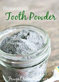 Homemade Tooth Powder.