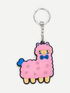 Cartoon Alpaca vormige sleutelhanger -Dutch SHEIN(SHEINSIDE) aae8b800d