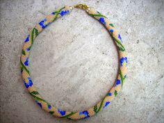 Free pattern for beaded crochet rope Iris by FlyPetra