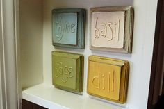 diy kitchen crafts | This method was inspired by embossing, which is the process of raising ...
