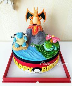 Pin for Later: These Pokémon Cakes Are Fit For Any Trainer's Birthday Party (Pokemon Cake) Pokemon Birthday Cake, 6th Birthday Cakes, Novelty Birthday Cakes, Cupcake Birthday Cake, Pokemon Torte, Pokemon Cakes, Pokemon Pokemon, Birthday Cake Kids Boys, Birthday Ideas