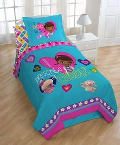 Disney Doc McStuffins Dottie TWIN Comforter W/ Bonus Sham The Doc Is In NEW