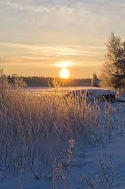 Ylivieska, Central Ostrobothnia province, Finland. Winter sun.