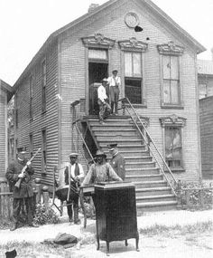 Blacks Evicted from Their Houses, Chicago, July 1919 . - Red Summer refers to the race riots that occurred in more than three dozen cities in the United States during the summer and early autumn of Chicago Riots, Chicago Loop, Chicago Illinois, Chicago Outfit, African American History, Historical Photos, Black History, Black And White Photography, City