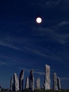 Callanish Stones by Moonlight Scotland