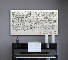 Anniversary Gift 11th Anniversary Gift Sheet Music Wall Art