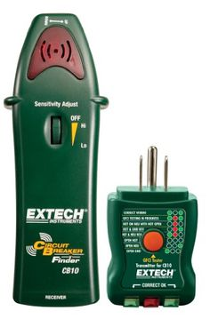 Figure out what outlet is on what circuit! Grab your Girlfriendz, rubber Gloves, read the directions, and be your own Sexy Handy Chick! Extech CB10 Circuit Breaker Finder locates fuses/breakers, tests receptacles and GFCI circuits