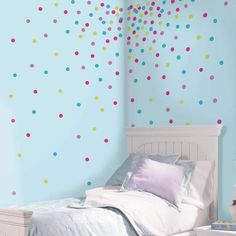 Roommates Glitter Confetti Dot Wall Decals