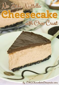 No Bake Nuttela Cheesecake @Courtney Tuning does this mean you want me to make it for you?