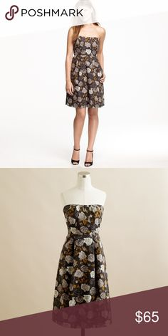 15fb168a6f3 J. Crew Marielle Dress in Solstice Floral Size 6 Gorgeous dress In earth  colors. Pleated detail on front and back