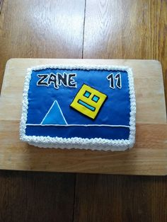 Geometry dash birthday cake #geometrydash