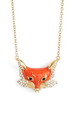 kate spade new york katespade new york'into the woods - fox' pendant necklace available at #Nordstrom