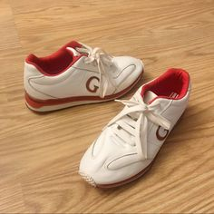 wholesale dealer 9c58f cdec8 Guess Shoes   Vintage Guess Rare Sneakers   Color  Red White   Size  7.5