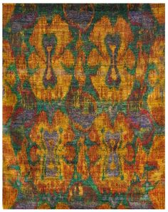 Size: x Construction: Hand Knotted. Collection: MG. Sari Silk, Modern Rugs, Bohemian Rug, The Originals, Construction, Floor, India, Green, Gold